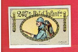 VIGNETTE DELANDRE 247e REGIMENT INFANTERIE GUERRE 1914 1918 WWI POSTER STAMP CINDERELLA - Vignettes Militaires