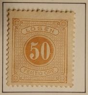 1874 SUEDE - SWEDEN  Y&T  TAXE 9 B /  NEUF SUR CHARNIERE - Suède