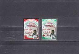 Biafra Neuf 1970   N° 44 Et 46   2e Anniversaire De L'indépendance Surchargé Avant Réintégration Dans Le Nigéria - Nigeria (1961-...)