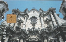 Cuba, CUB-006, Havana Cathedral, First Edition, 2 Scans - Cuba