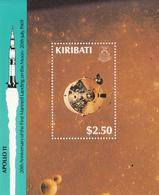 1989 Kiribati  Apollo 11 Space Souvenir Sheet Complete MNH - Kiribati (1979-...)