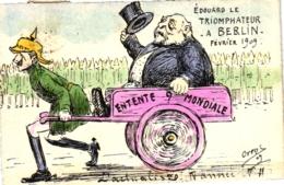 Eduard Le Triophateur A Berlin Fevrier 1909, Sign. Orens, L` Actualiste - Satirische