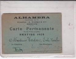 ALHAMBRA Bordeaux, Carte Permanente, Skating 1904 - Théatre & Déguisements