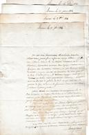 1814 - BAÏONNE (BAYONNE) 4 Lettre à M. SAINT ORENS Négt. Maire à SAUBUSSE (40) - Historical Documents