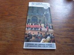 Folder CIPCE SNCB Belgique Grande Bretagne  Par Train 1965 TEE Train Autos-couchettes Horaire Prix - Chemin De Fer