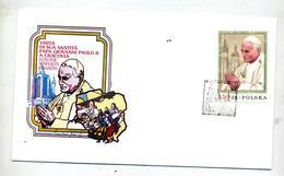 Lettre  Cachet ? Visite Pape Jean Paul - Marcophilie - EMA (Empreintes Machines)