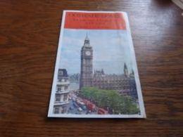 Folder La Voie Vers L'Angleterre Ete 1965 Prix Horaire Train Et Malle Ostende Douvres Oostende Dover - Chemin De Fer
