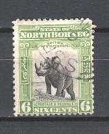 North Borneo 1909 Mi 132 Canceled RHINO - North Borneo (...-1963)