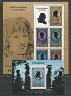 Corée Du Nord: Série 1733 En Feuillet De Luxe + BF  Oblit (Goethe) - Corée Du Nord
