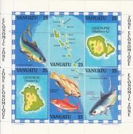 1983 Vanuatu Economic Zone Fish Maps Complete  MNH - Vanuatu (1980-...)
