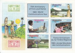 1983 Vanuatu Communication Year Telecom Philately Miniature Sheet Of 4 MNH - Vanuatu (1980-...)
