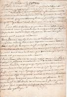 1721 - LIXARRE (64) L. Du Sindic à MM. Les DÉPUTÉS Et HABITANTS De TROISVILLES (64) - Historical Documents