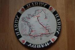D/ Plateau Publicitaire Cognac Hardy Tour De France 1962 Amiens Herentals SPA Nancy Gien Nevers Bourgoin Briançon Luchon - Verres