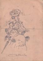 Dessin Original  Pornographique à Système -- Année 20/40- 15cmx19cm - Popular Art