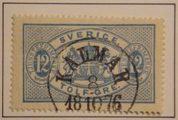 SUEDE - SWEDEN  Y&T  SERVICE 6a  Belle Oblitération KALMAR 18 / 10 / 76 - Suède