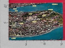 CARTOLINA VG TURCHIA - ISTANBUL Vs GUZELLIKLERI - The Blue Mosque - Aerial View - 10 X 15 - ANN. 1973 - Turchia