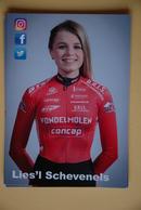 CYCLISME: LIES'L SCHEVENELS - Cyclisme
