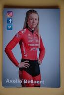 CYCLISME: AXELLE BELLAERT - Cyclisme