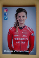 CYCLISME: KAREN VERHESTRAETEN - Cyclisme
