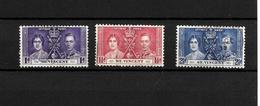 St Vincent KGVI 1937 Coronation, Complete Set Used (7114) - St.Vincent (...-1979)