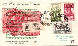 Fdc Chimera: VITTORIA 1958 ; Raccomandata Senza Arrivo; AS_Vittorio V. - F.D.C.