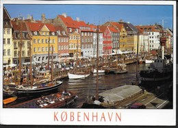 DANIMARCA - COPENAGHEN - NYHAVN - FORMATO GRANDE 17X13 - VIAGGIATA 1997 FRANCOBOLLO ASPORTATO - Danimarca