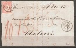 Lettre De 1862 ( Strubel ) - 1854-1862 Helvetia (Non-dentelés)