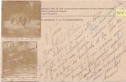 """N°100 / Carte Postale PHOTO Groupe De Prisonniers Et """"canon En Pleine Action""""/ Correspondance Militaire / Franchise - 1914-18"""