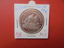 ISLANDE 500 KRONUR ARGENT 1986 FDC ! RARE !!! (15.000 Ex) - Islande