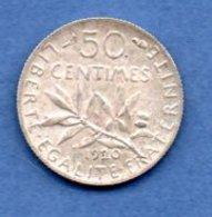 Semeuse  -  50 Centimes 1920 --  état SUP - France