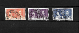 Sierra Leone KGVI 1937 Coronation, Complete Set Used (7116) - Sierra Leone (...-1960)
