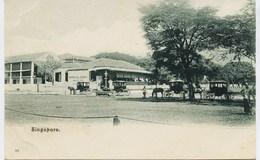 10844  -  Asie - SINGAPOUR  : HOTEL DE L'EUROPE  ET LES FIACRES       Dos Non Divisé, D'avant 1904 - Singapur