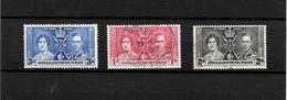 Somaliland Protectorate KGVI 1937 Coronation, Complete Set Used (7124) - Somaliland (Protectorate ...-1959)
