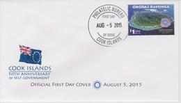 Cook Islands FDC Mi 2067 50th Anniversary Of Self Government - Our Journey As One People - Island 2015 - Cookinseln