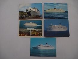 """CORSE :  CAR-FERRY : """"Comté De Nice"""" """"Le Corse"""" """"Le Napoléon"""" """"L'Esterel"""" - Lot De 5 CPM - Voir Les 2 Scans - Ferries"""