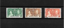 Trinidad & Tobago KGVI 1937 Coronation, Complete Set Used (7130) - Trinidad & Tobago (...-1961)
