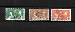Trinidad & Tobago KGVI 1937 Coronation, Complete Set Used (7131) - Trinidad & Tobago (...-1961)