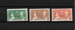 Trinidad & Tobago KGVI 1937 Coronation, Complete Set Used (7132) - Trinidad & Tobago (...-1961)