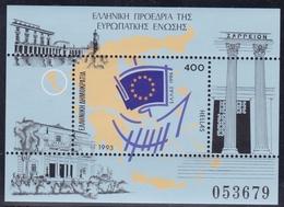Griechenland, 1993, 1842 Block 11, Vorsitz Griechenlands In Der Europäischen Union.  MNH **, - Blocs-feuillets