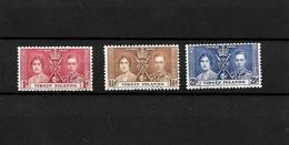Virgin Islands KGVI 1937 Coronation, Complete Set Used (7133) - British Virgin Islands
