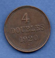 Guernesey  -  4 Doubles 1920 -  Km # 13 -  état  TTB - Guernsey