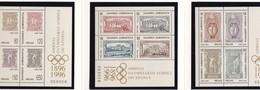 Griechenland, 1996, 1896/07 Block 13/15,100 Jahre Olympische Spiele Der Neuzeit (I). MNH **,booklet - Hojas Bloque