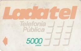 MEXICO - Ladatel Naranja($5000), CN : 7MEXA, Used - Mexico
