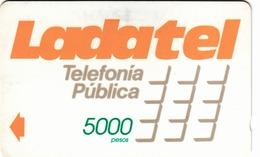 MEXICO - Ladatel Naranja($5000), CN : 8MEXA, Used - Mexico