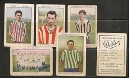 FOOTBALL - SOCCER  - 1925 Lot Of 5 Rare!! CIGARRILLOS DOLAR CARDS From ARGENTINA - Includes URUGUAY INTERNATIONAL TEAM - Cigarette Cards