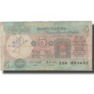 Billet, Inde, 5 Rupees, Undated (1978), KM:80n, TB - Inde