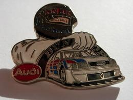 PIN'S AUDI, ANTAR, PIONEER, PASSERELLE DUNLOP ESTAMPILLE ACABI - Volkswagen