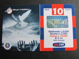 TIM USATA 1165 GCO-M - TIM PER IL GIUBILEO COLOMBA DELLA PACE ETU4 - Apr.2002 Eccellente Stato - Italy
