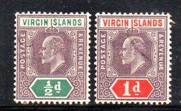 R693 - VIRGIN ISLANDS 1904 , Due Valori Multi CA . Annullo Leggerissimo - British Virgin Islands