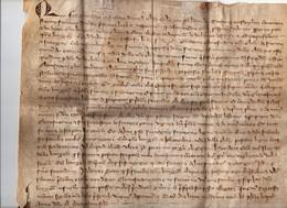 Rare Parchemin Manuscrit En Latin ? (à Vérifier) 14ème Siècle Année 1308 à Situer - Manuscritos